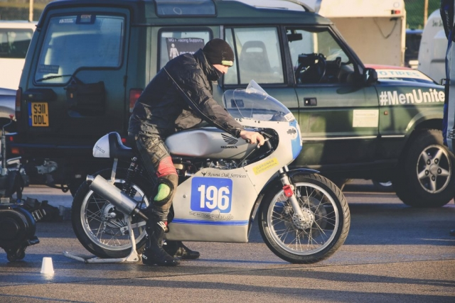 Terence Sansom at Mallory Park Plum Pudding races