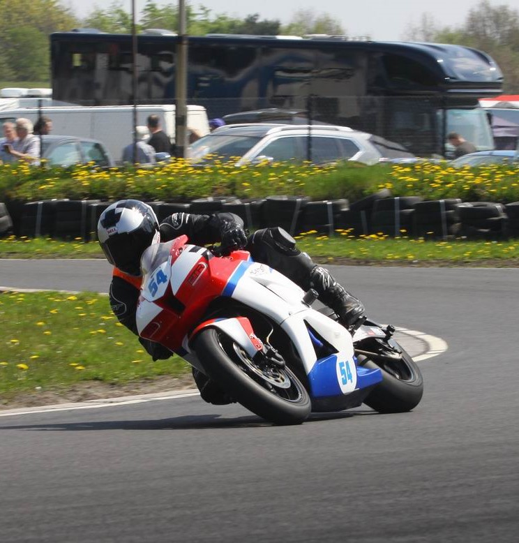Marsh nearly had all four wins on his CBR600RR, but missed out on the second Formula 600 win...