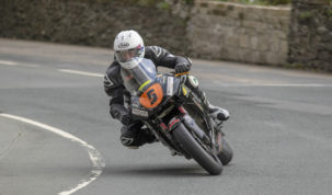 David Lumsden was the fastest of the Manx GP runners on a Supertwin, while Junior and Senior riders were left without a lap...