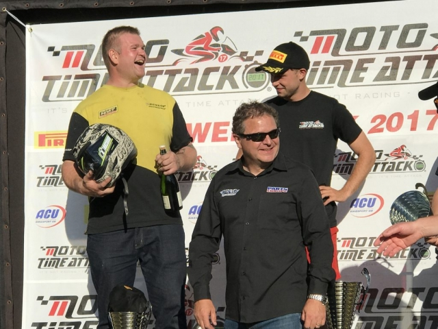 Phil Crowe set fastest lap of the day at Moto time Attack