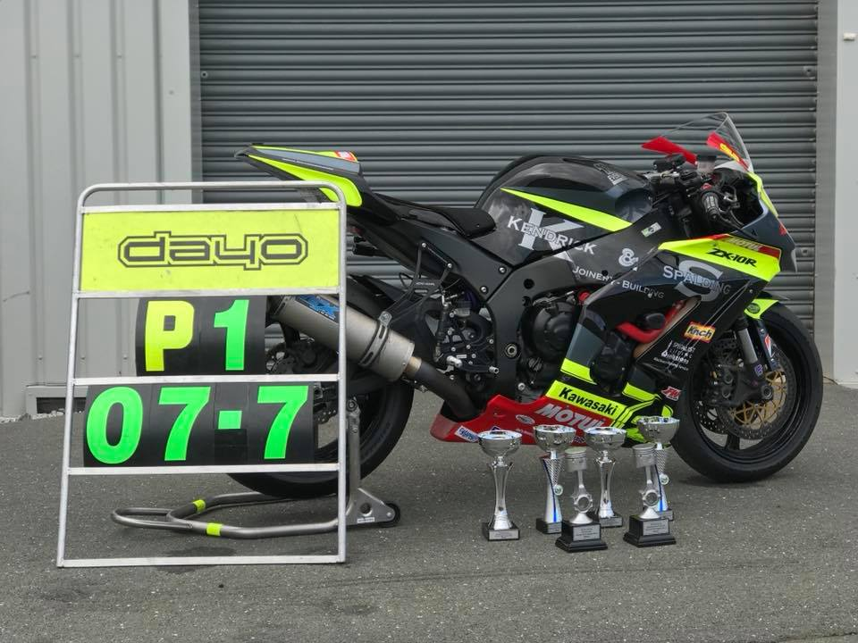 The Dayo Racing trophy haul, along with Josh's new outright club lap record of 1:07.7s...