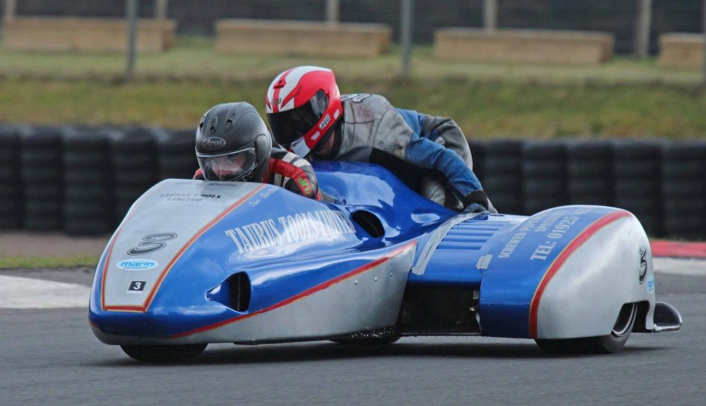 Scott Lawrie and Mick Fairhurst were unstoppable in both the club and Scottish sidecar races...