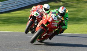 Jones (89) got the better of club big bike king Blackshaw (24) last time out at Oulton...