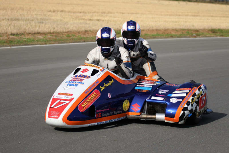 Crawford and Hardie say it took them two to three years to break the East Fortune lap record...