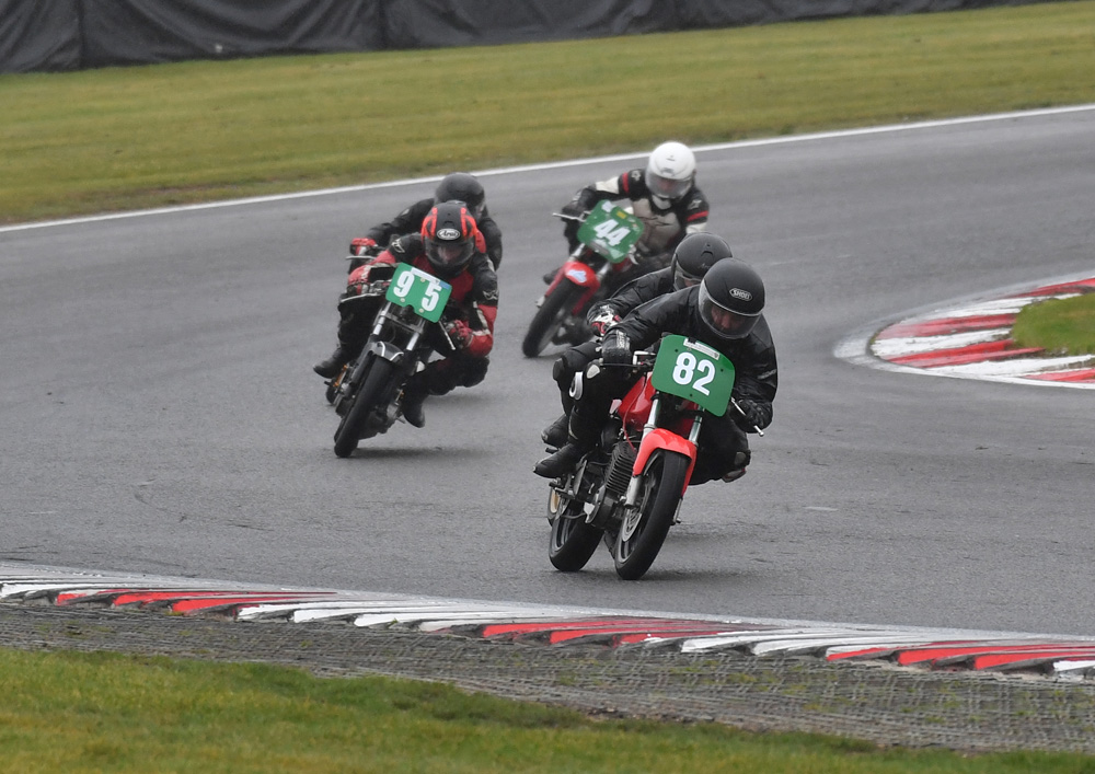 BMZRC champ Mark Taylor (82) ahead in wet conditions...