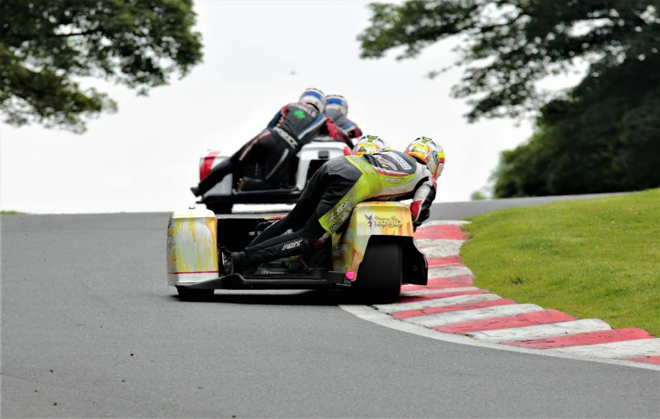 It was all action all through the field at Cadwell...