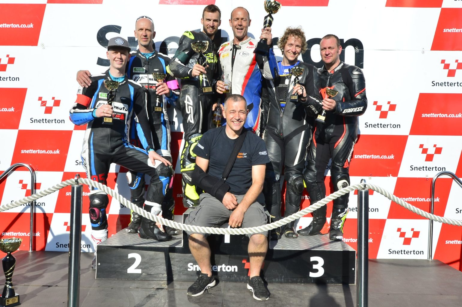 The Clubman 600 podium, topped by Datasys Racing for the second time this year...