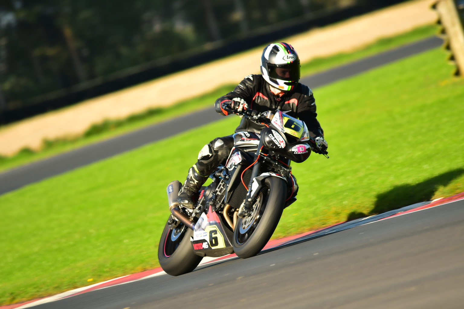 Triumph Cup champ Holden en route to victory...